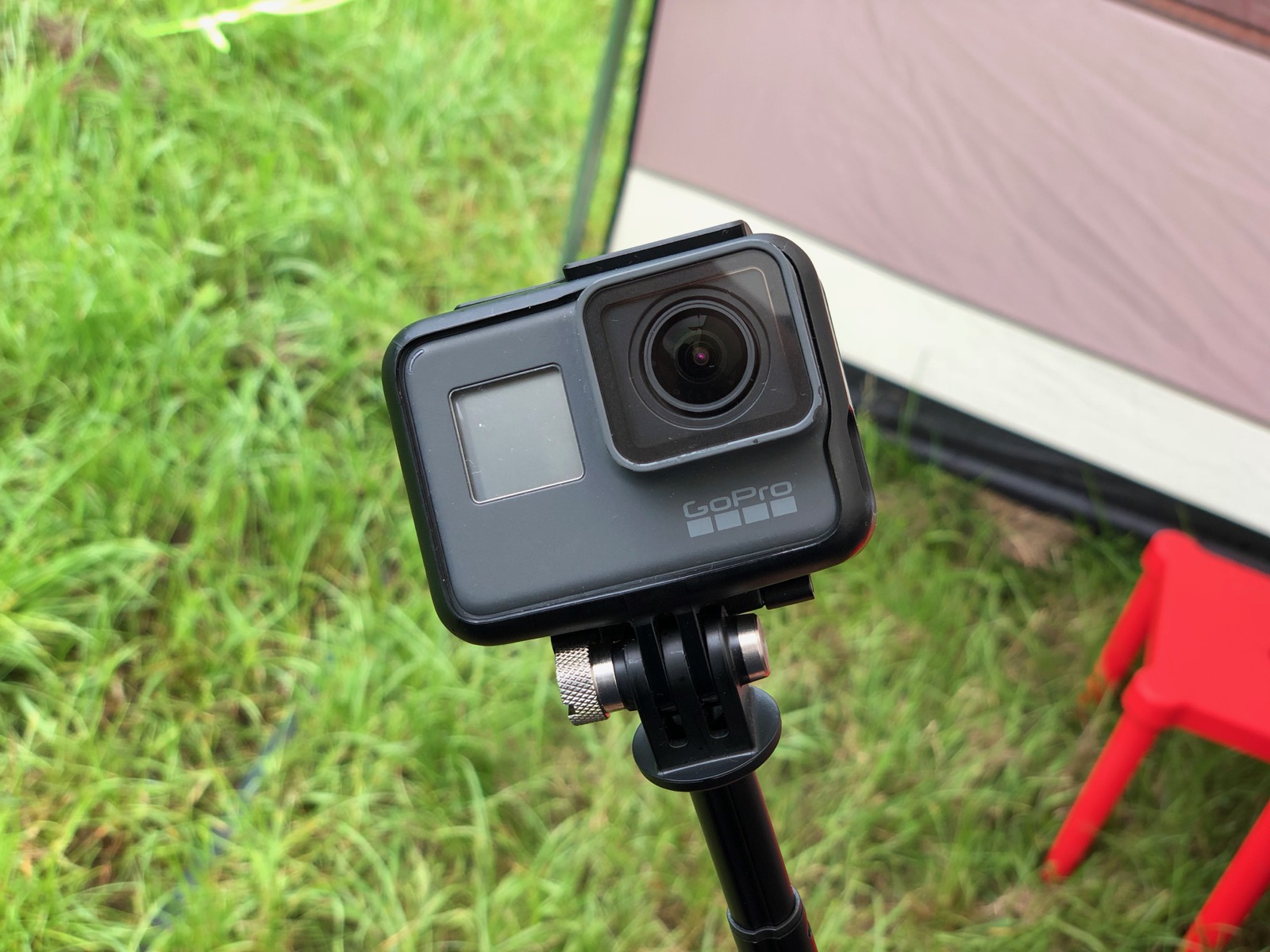 GoPro is use while camping
