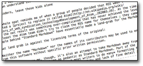 Writers, Coders and the Markdown landgrab