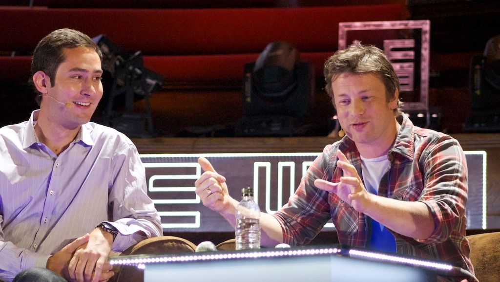 Jamie Oliver and Kevin Systrom at Le Web: an Instagram moment