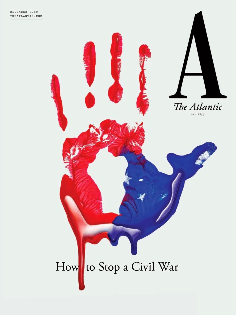 The redesigned cover of The Atlantic magazine.