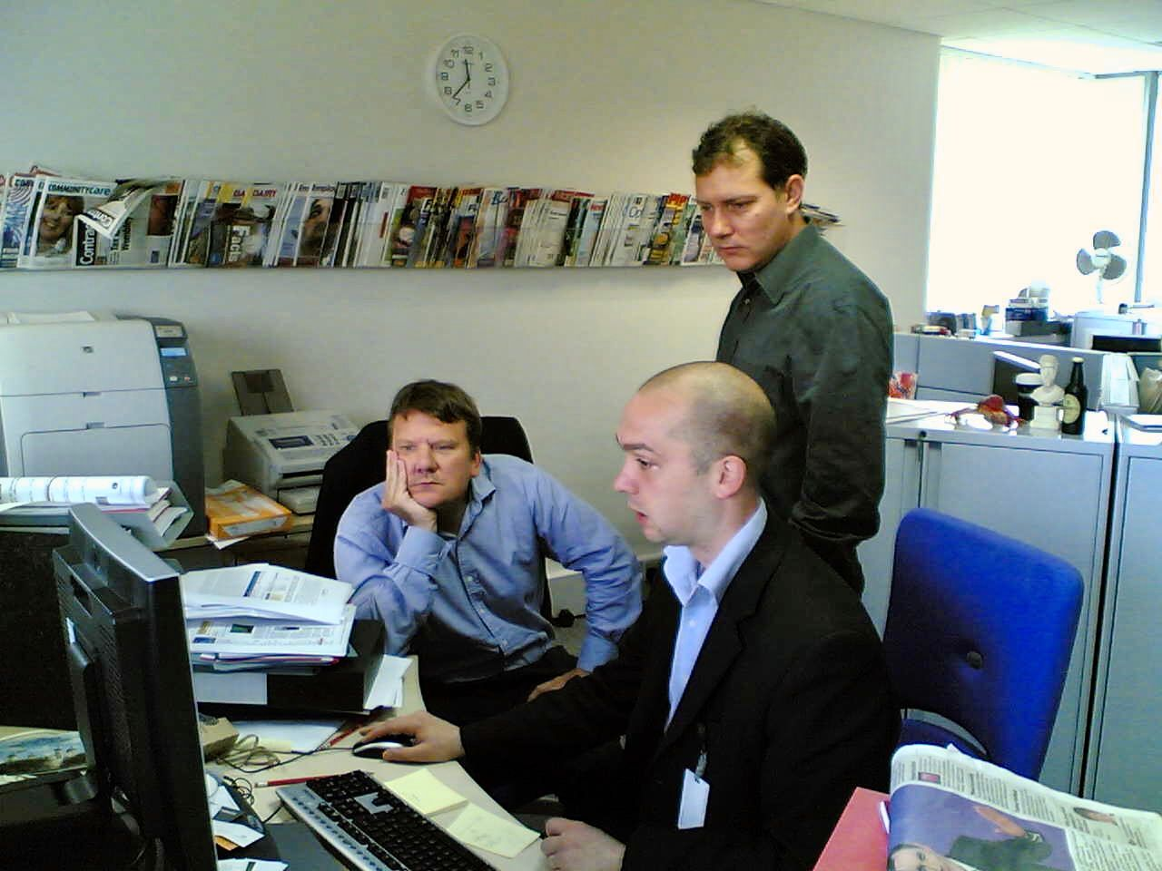 Piers, Lindsay and Andrew in RBI's business development office