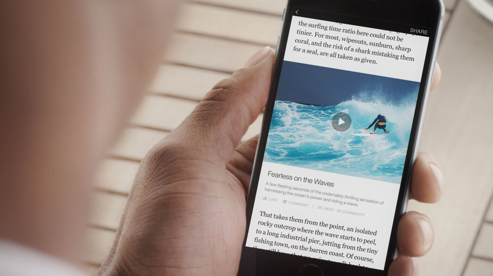Facebook Instant Articles in video