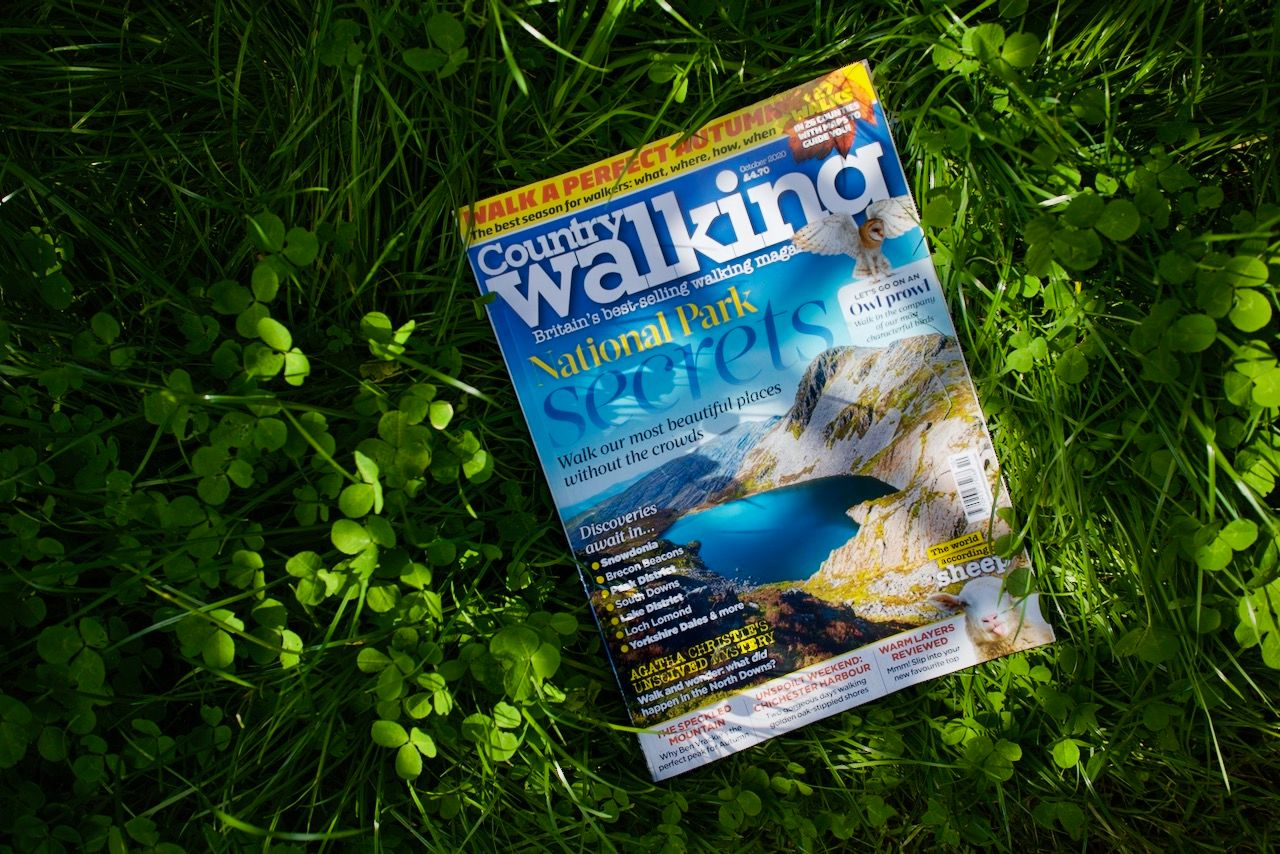 Country Walking magazine in the grass