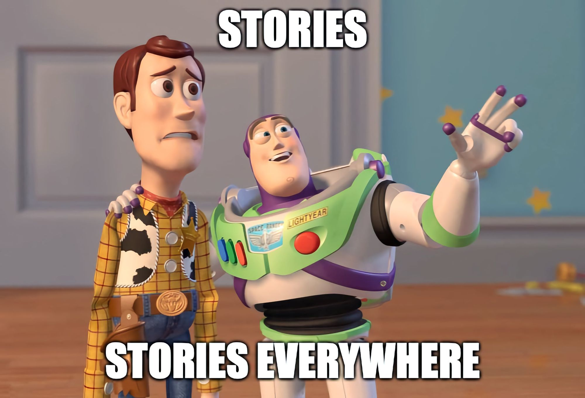 Buzz Lightyear introduces Woody to Facebook's strategy