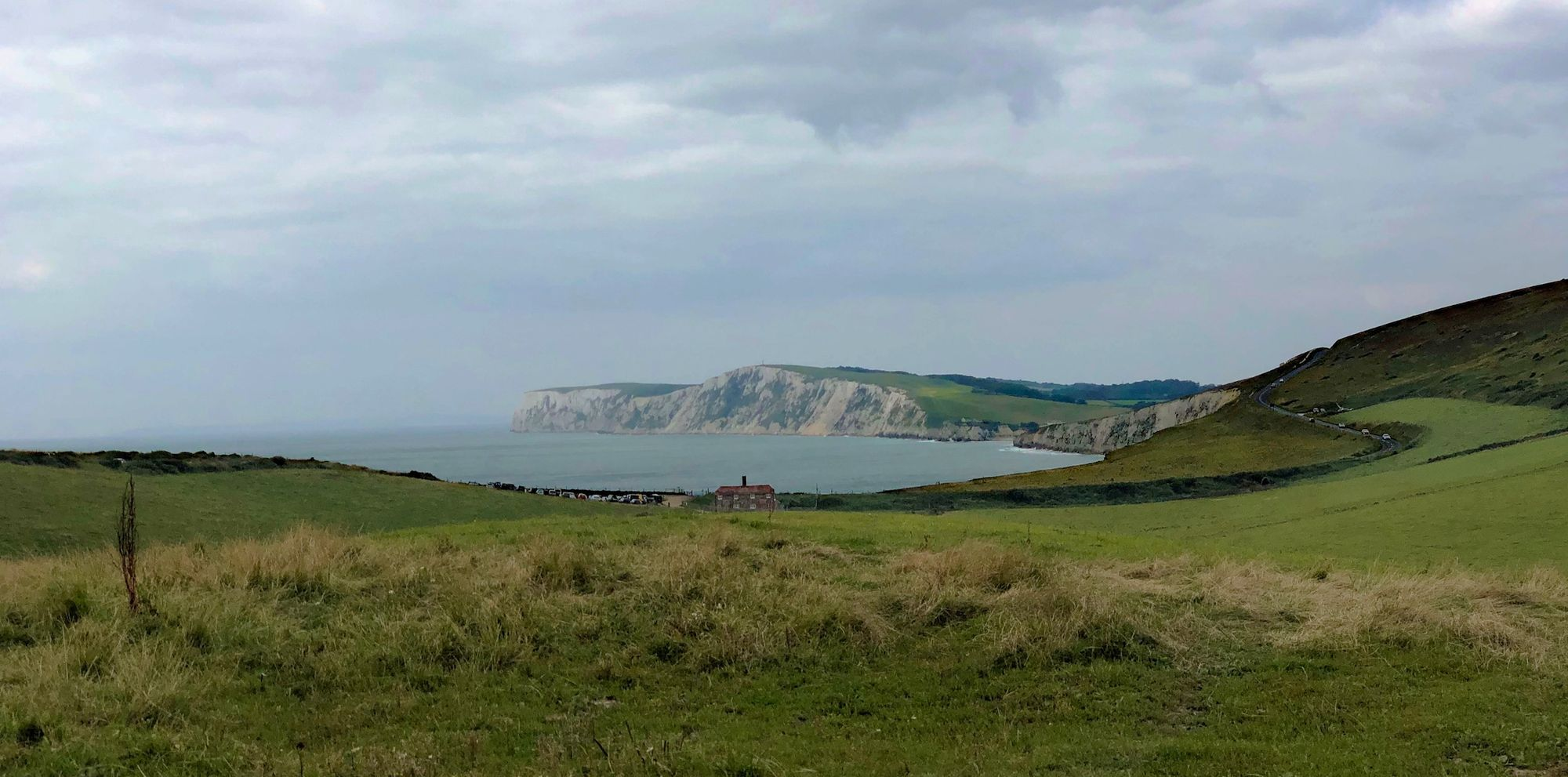 A view of a bay on the west coast of the Isle of Wight.
