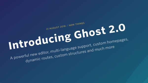 One Man & His Blog is now running on Ghost 2.0